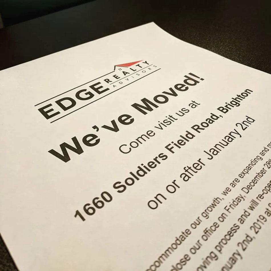 EDGE Realty has moved