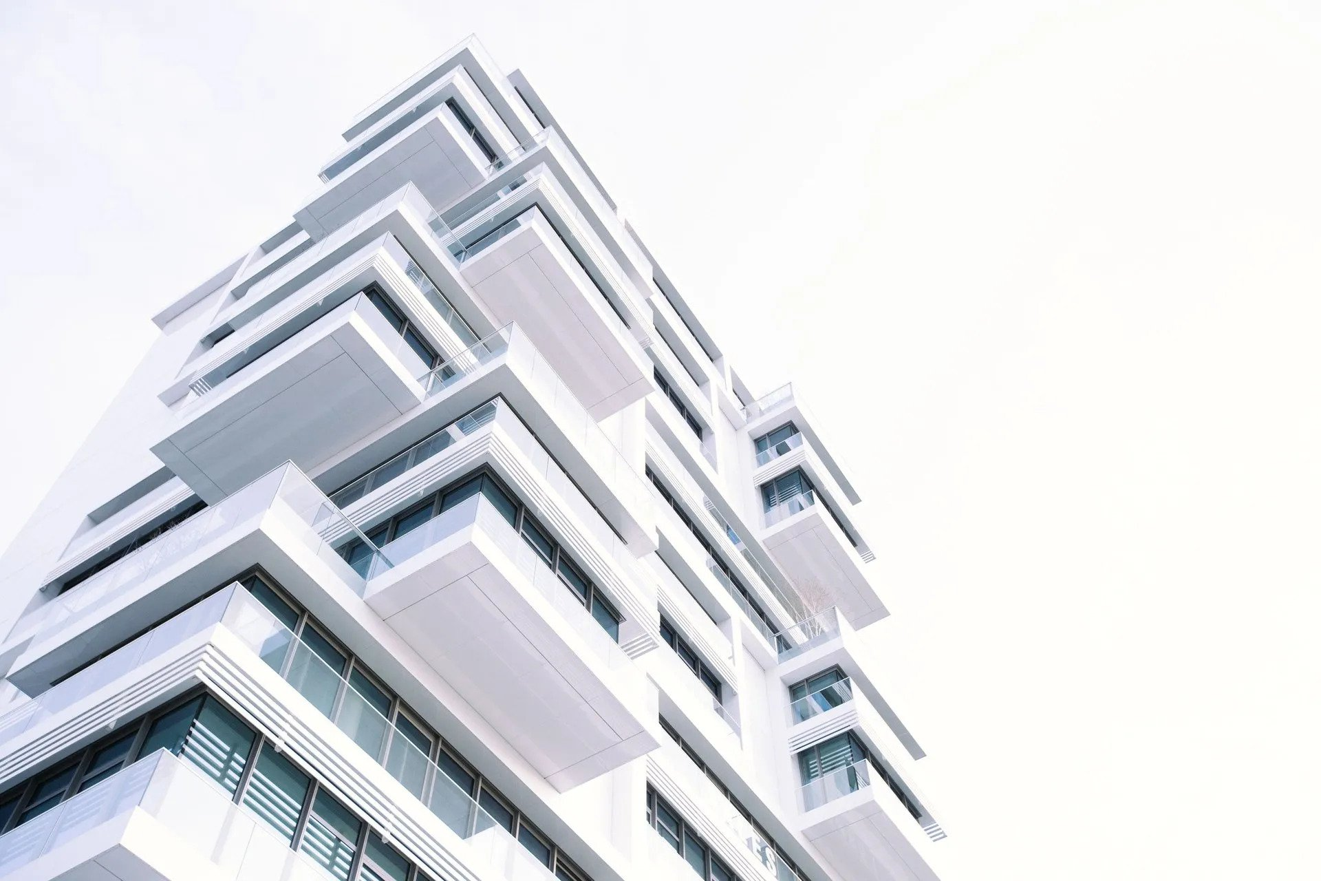 High rise building with multiple apartment rental units